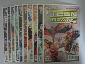 Teen Titans (2011 4th Series) SET:#1-9, ANN #1, AVERAGE 8.5/VF+