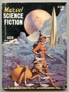 Marvel Science Fiction August 1951- AE Van Vogt- Hannes Bok