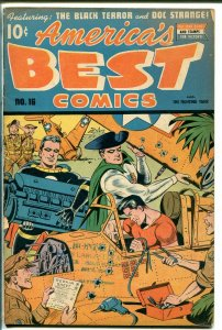 AMERICA'S BEST #16 1945-NEDOR-BLACK TERROR-FIGHTING YANK-CLASSIC ISSUE-vg