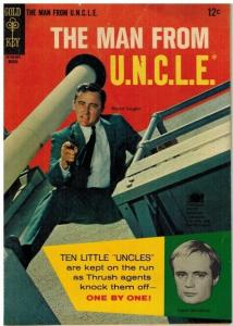 MAN FROM UNCLE (1965-1969 GOLD KEY) 5 VG PHOTOCOVER: