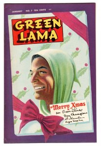 GREEN LAMA #7 comic book-1946-SPARK-WWII-MAC RAYBOY-Christmas cover