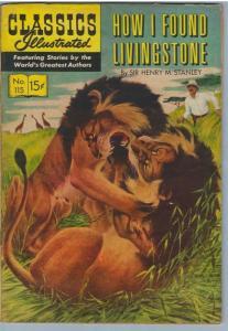 Classics Illustrated 115 (Original) Jan 1954 VG (4.0)