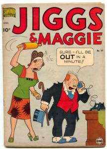 Jiggs and Maggie #19 1951-STANDARD-GEORGE MCMANUS ART vg+