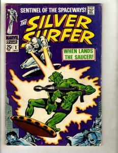 Silver Surfer # 2 FN- Marvel Comic Book Avengers Fantastic Four Galactus GK1