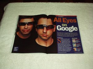 Newsweek Magazine 2004 GOOGLE Founders LARRY PAGE & SERGEY BRIN, Clinton/Bush +