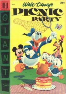 Dell Giant Comics: Picnic Party #7, Fine- (Stock photo)