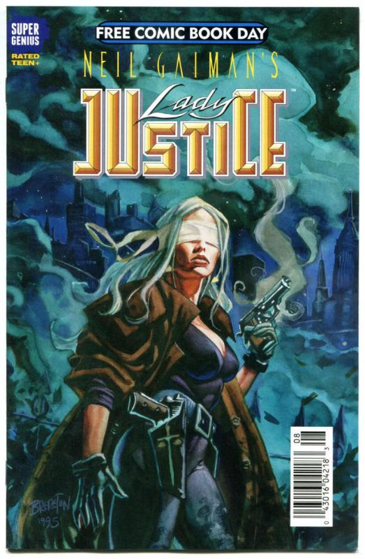 LADY JUSTICE, NM, FCBD, Neil Gaiman, 2015, more Promo/items in store