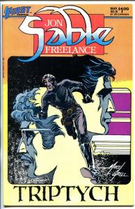 JON SABLE FREELANCE #10 1984-FIRST-SIGNED-MIKE GRELL-nm