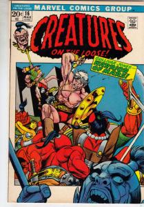 Creatures on the Loose #16 (Mar-72) VF/NM+ High-Grade Gullivar Jones
