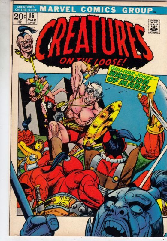 Creatures on the Loose #16 (Mar-72) VF/NM+ High-Grade Gullivar Jones