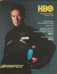 ORIGINAL Vintage Aug 1983 HBO Guide Magazine Firefox Clint Eastwood