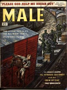 MALE- PULP 11/1958-BRIGITTE BARDOT-JERRY LEE LEWIS-CANNIBAL HAREM
