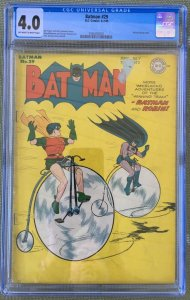 Batman #29 (1945) CGC 4.0 -- Alfred backup story! Bill Finger Dick Sprang