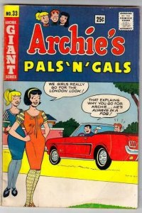 Archie's Pals 'n' Gals #33 (Jul-65) VG+ Affordable-Grade Archie, Betty, Veron...