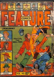 Feature Comics #40 Very Low Grade 1st Print