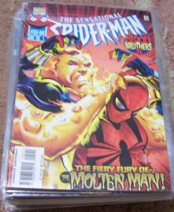 SENSATIONAL SPIDER-MAN COMIC # 5 1996  Marvel  molten man BEN REILLY OSBORNE
