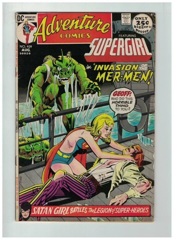 ADVENTURE 409 VG+ Aug. 1971  Supergirl