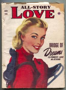 All-Story Love Pulp February 1953- Bridge of Dreams G
