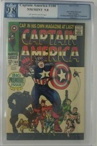 Captain America #100 - 1968 Marvel -  PGX 9.8 (NM/M)