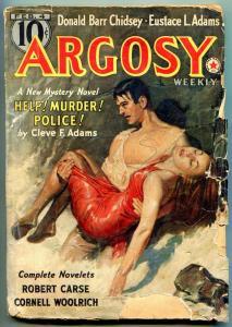 Argosy Pulp February 4 1939- Synthetic Men of Mars- Burroughs G