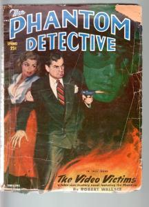 PHANTOM DETECTIVE spring 1951--TELEVISION STORY!-THRILLING-G/VG G/VG