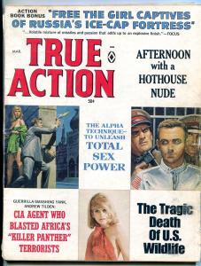 True Action Magazine March 1969-CHARLES COPELAND-KUNSTLER--CIA G/VG
