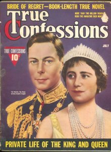 True Confessions 7/1939-Zoe Mozert cover-England's King George & Queen Elizabeth