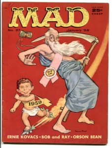 Mad Magazine #37 1958-NEW YEAR'S COVER BY MINGO- VG/F