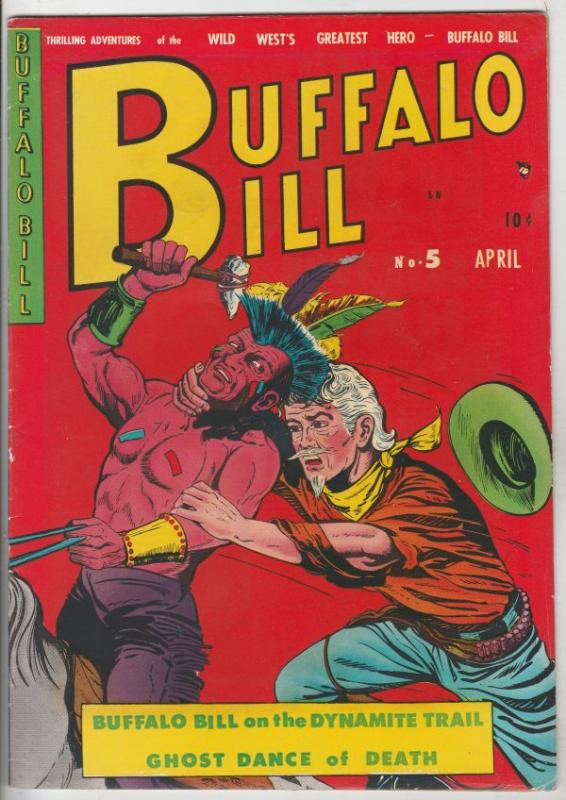 Buffalo Bill #5 (Apr-51) VF Affordable-Grade Buffalo Bill Cody