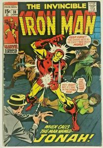 INVINCIBLE IRON MAN#38 VG/FN 1971 MARVEL BRONZE AGE COMICS