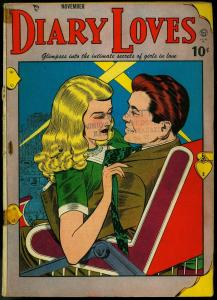 Diary Loves#2 1949- Quality Romance- Bill Ward cover- Circus Girl VG-