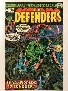 DEFENDERS#27  FN/VF 1975 MARVEL BRONZE AGE COMICS