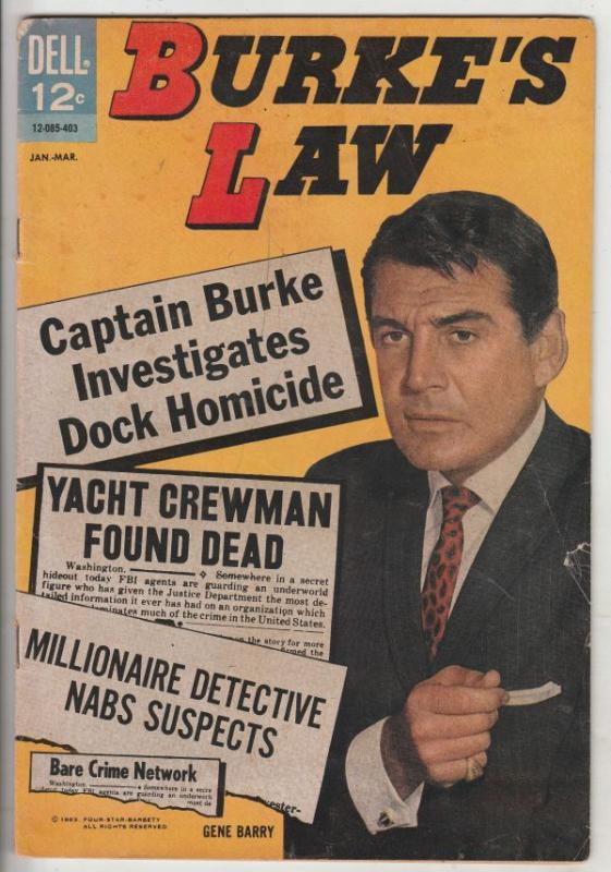 Burke's Law #1 (Jan-64) VG Affordable-Grade Burke