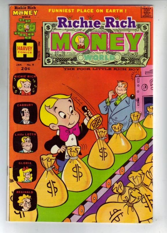 Richie Rich Money #9 (Jan-74) NM- High-Grade Richie Rich