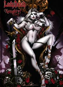 Lady Death Gallery Naughty Hardcover Ltd Edition of 2000 Signed w/COA (2015) NM