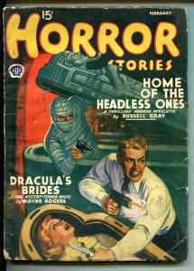 Horror Stories 2/1941-live burial cover-Dracula's Brides-Fleming-Roberts-VG