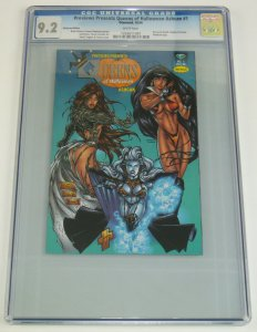 Queens of Halloween #1 CGC 9.2 platinum variant - lady death  michael turner