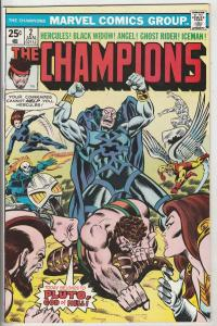 Champions, The #2 (Jan-76) NM- High-Grade Ghost Rider, Hercules, Black Widow,...