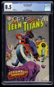 Teen Titans #10 CGC VF+ 8.5 Off White to White