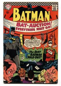 BATMAN #191 comic book 1967-DC COMICS-AUCTION COVER-BATMOBILE VG