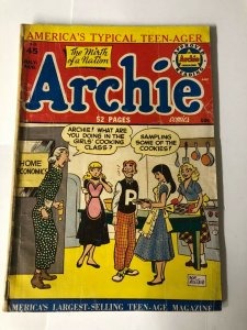ARCHIE 45 GOOD+ but taped spine, extra staples June 1950 nice Bob Montana cover