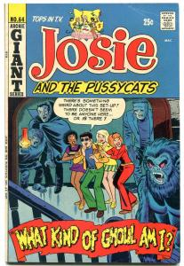Josie and the Pussycats #64 1972- Dracula & Frankenstein cover- Archie Giant FN-