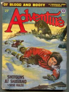 Adventure Pulp July 1947- Shotguns at Shavano FN