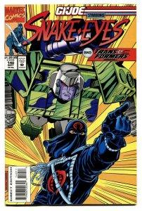 G.I. JOE #140 1993- late issue low print run- Snake Eyes NM-