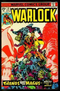 Warlock #10 1975- Starlin cover- Thanos Origin - VF-