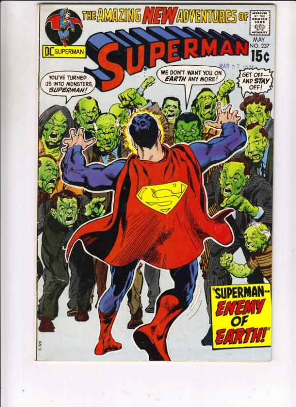 Superman #237 (May-71) FN/VF+ High-Grade Superman, Jimmy Olsen,Lois Lane