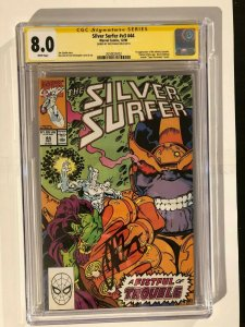 Silver Surfer #44 - 1st Infinity Gauntlet - CGC 8.0 Signed By Jim Starlin