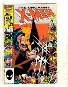 (Uncanny) X-Men # 211 NM Marvel Comic Book Cyclops Beast Iceman Wolverine GK4
