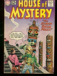 HOUSE OF MYSTERY #126 1962 DC HUMAN TOTEM POLE COVER VG