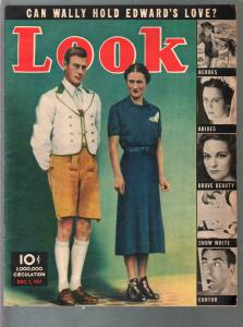 Look 12/7/1937-Windor's cover-Snow White cartoon-Ed Reed-FN
